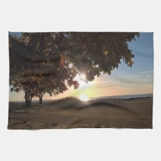 Fall Sunrise At The Lake Hand Towel