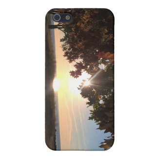 Fall Sunrise At The Lake iPhone 5/5S Covers