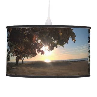 Fall Sunrise At The Lake Pendant Lamp