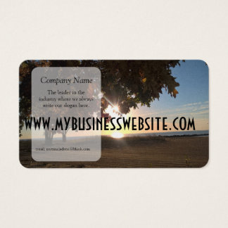 Fall Sunset At The Lake Business Card