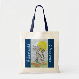Fall Tabby Cat small tote bag