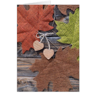 Fall thank-you greeting card