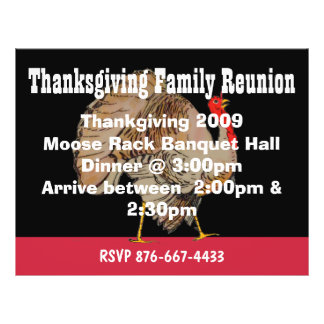 Fall Thanksgiving Event Flyer