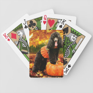 Fall Thanksgiving - Gidget - Poodle Bicycle Playing Cards