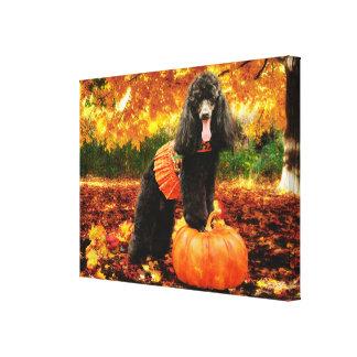Fall Thanksgiving - Gidget - Poodle Canvas Print