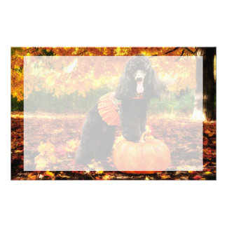 Fall Thanksgiving - Gidget - Poodle Customized Stationery