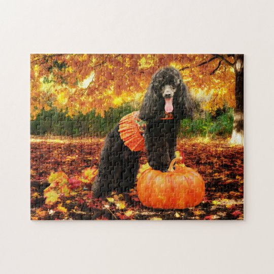 Fall Thanksgiving - Gidget - Poodle Jigsaw Puzzle