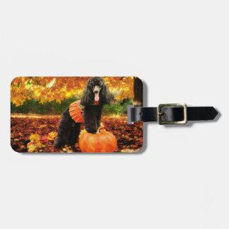 Fall Thanksgiving - Gidget - Poodle Luggage Tag