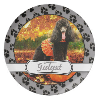 Fall Thanksgiving - Gidget - Poodle Plate
