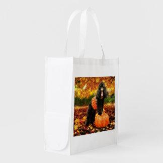 Fall Thanksgiving - Gidget - Poodle Reusable Grocery Bag