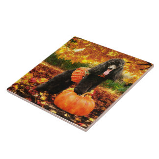 Fall Thanksgiving - Gidget - Poodle Tile