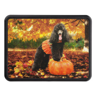 Fall Thanksgiving - Gidget - Poodle Trailer Hitch Cover