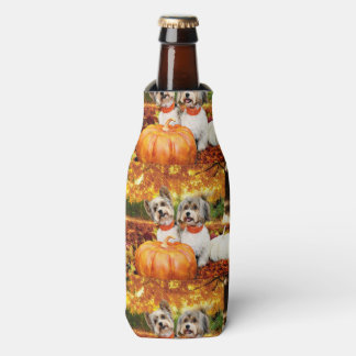 Fall Thanksgiving - Max & Leo - Yorkies Bottle Cooler