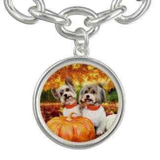 Fall Thanksgiving - Max & Leo - Yorkies Bracelet