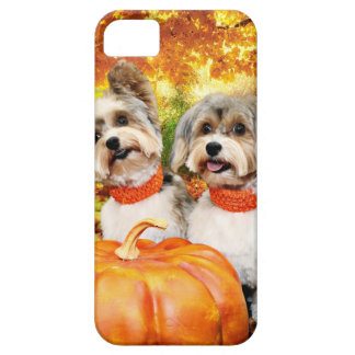 Fall Thanksgiving - Max & Leo - Yorkies Case For The iPhone 5