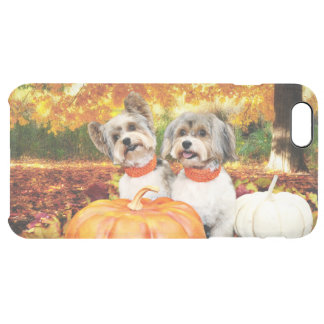 Fall Thanksgiving - Max & Leo - Yorkies Clear iPhone 6 Plus Case