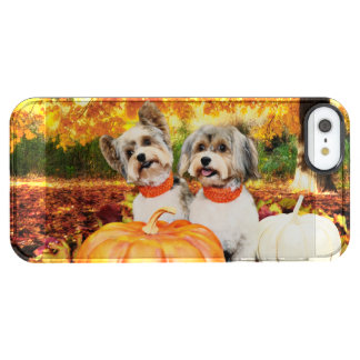 Fall Thanksgiving - Max & Leo - Yorkies Clear iPhone SE/5/5s Case