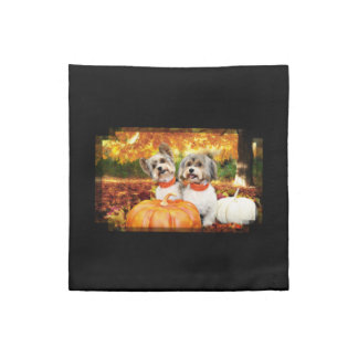 Fall Thanksgiving - Max & Leo - Yorkies Napkin