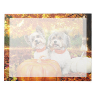 Fall Thanksgiving - Max & Leo - Yorkies Notepad