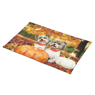 Fall Thanksgiving - Max & Leo - Yorkies Placemat