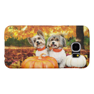Fall Thanksgiving - Max & Leo - Yorkies Samsung Galaxy S6 Cases
