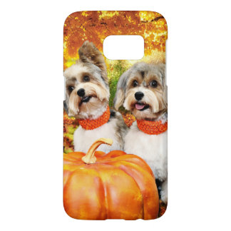 Fall Thanksgiving - Max & Leo - Yorkies Samsung Galaxy S7 Case