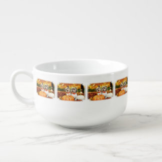 Fall Thanksgiving - Max & Leo - Yorkies Soup Mug