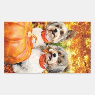 Fall Thanksgiving - Max & Leo - Yorkies Sticker