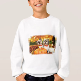 Fall Thanksgiving - Max & Leo - Yorkies Sweatshirt