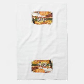 Fall Thanksgiving - Max & Leo - Yorkies Towels