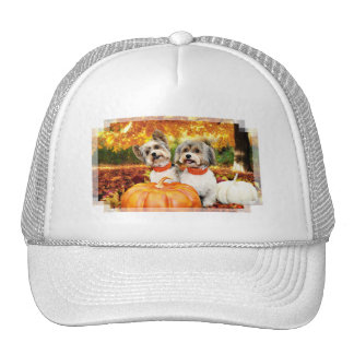 Fall Thanksgiving - Max & Leo - Yorkies Trucker Hat