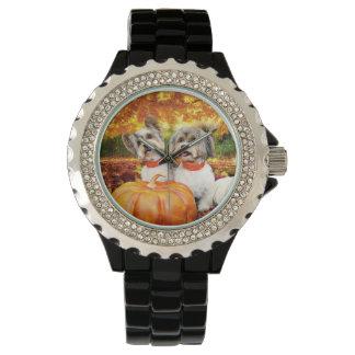 Fall Thanksgiving - Max & Leo - Yorkies Wristwatches