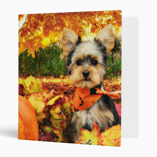 Fall Thanksgiving - Max - Yorkie 3 Ring Binders
