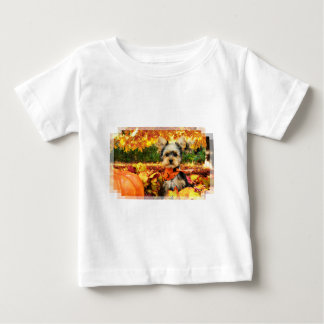Fall Thanksgiving - Max - Yorkie Baby T-Shirt