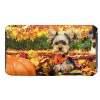 Fall Thanksgiving - Max - Yorkie Barely There iPod Covers