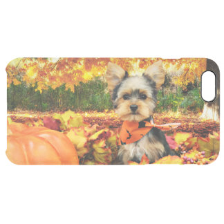 Fall Thanksgiving - Max - Yorkie Clear iPhone 6 Plus Case