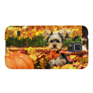 Fall Thanksgiving - Max - Yorkie Galaxy S5 Cover