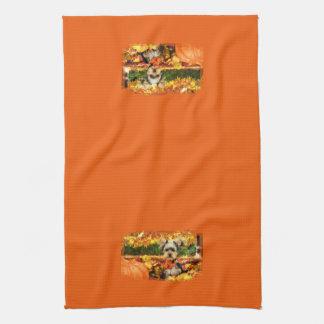 Fall Thanksgiving - Max - Yorkie Hand Towel