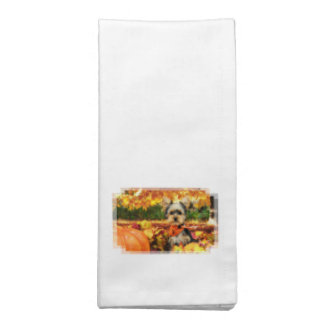 Fall Thanksgiving - Max - Yorkie Napkin