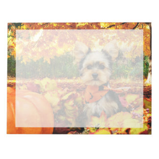 Fall Thanksgiving - Max - Yorkie Notepad