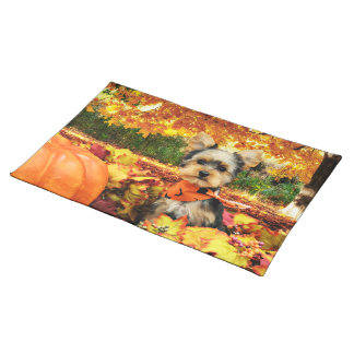 Fall Thanksgiving - Max - Yorkie Placemat