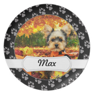Fall Thanksgiving - Max - Yorkie Plate