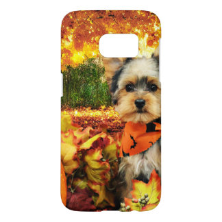 Fall Thanksgiving - Max - Yorkie Samsung Galaxy S7 Case