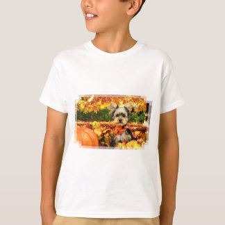 Fall Thanksgiving - Max - Yorkie T-Shirt