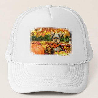 Fall Thanksgiving - Max - Yorkie Trucker Hat