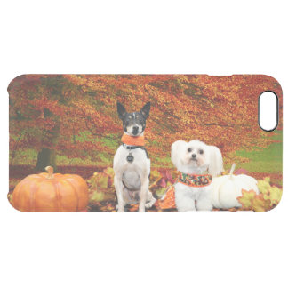 Fall Thanksgiving - Monty Fox Terrier & Milly Malt Clear iPhone 6 Plus Case