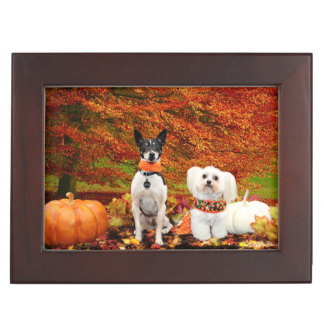 Fall Thanksgiving - Monty Fox Terrier & Milly Malt Memory Box