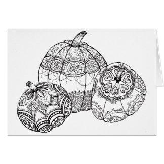 Fall Thanksgiving Pumpkin Card