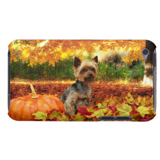 Fall Thanksgiving - Tucker - Yorkie Barely There iPod Case