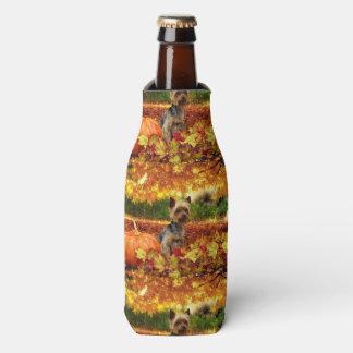Fall Thanksgiving - Tucker - Yorkie Bottle Cooler